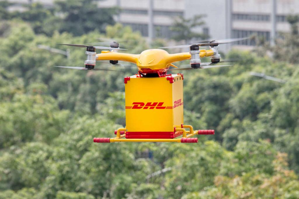 Consegne ultimo miglio : Dhl testa i droni in Cina